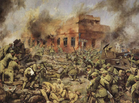 Painting showing the Chinese civil war