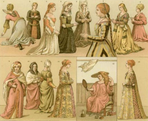 Woman clothing examples during Renaissance in Italy, XVI-XVII Century