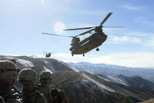 United States Army Chopper in Afghanistan in 2008.
