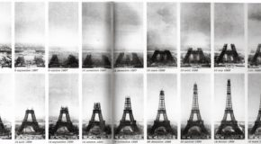The opening of the Eiffel Tower
